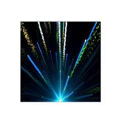 Seamless Colorful Blue Light Fireworks Sky Black Ultra Satin Bandana Scarf by AnjaniArt
