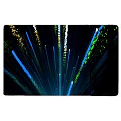 Seamless Colorful Blue Light Fireworks Sky Black Ultra Apple Ipad Pro 12 9   Flip Case by AnjaniArt