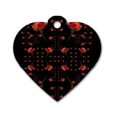 Roses From The Fantasy Garden Dog Tag Heart (one Side) by pepitasart