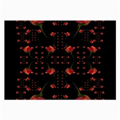 Roses From The Fantasy Garden Large Glasses Cloth (2 Side) by pepitasart