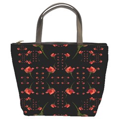 Roses From The Fantasy Garden Bucket Bags by pepitasart