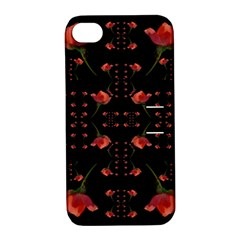 Roses From The Fantasy Garden Apple Iphone 4/4s Hardshell Case With Stand by pepitasart