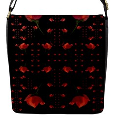Roses From The Fantasy Garden Flap Messenger Bag (s) by pepitasart
