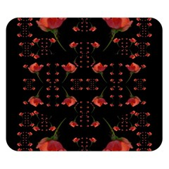 Roses From The Fantasy Garden Double Sided Flano Blanket (small)  by pepitasart