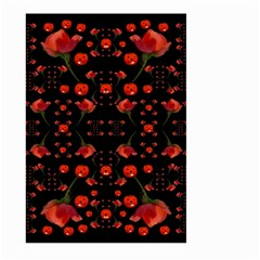 Pumkins And Roses From The Fantasy Garden Large Garden Flag (two Sides) by pepitasart
