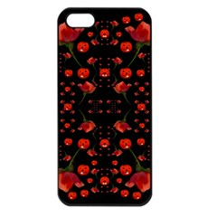 Pumkins And Roses From The Fantasy Garden Apple Iphone 5 Seamless Case (black) by pepitasart