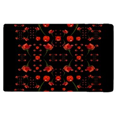 Pumkins And Roses From The Fantasy Garden Apple Ipad 3/4 Flip Case by pepitasart