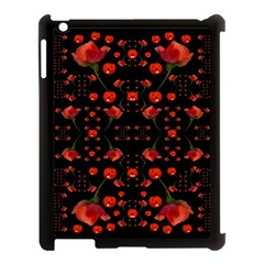 Pumkins And Roses From The Fantasy Garden Apple Ipad 3/4 Case (black) by pepitasart