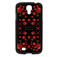 Pumkins And Roses From The Fantasy Garden Samsung Galaxy S4 I9500/ I9505 Case (black) by pepitasart