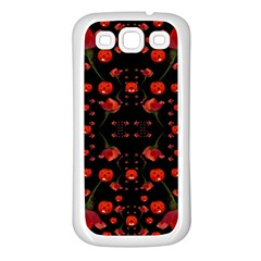 Pumkins And Roses From The Fantasy Garden Samsung Galaxy S3 Back Case (white) by pepitasart