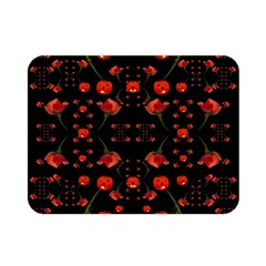 Pumkins And Roses From The Fantasy Garden Double Sided Flano Blanket (mini)  by pepitasart