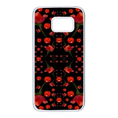 Pumkins And Roses From The Fantasy Garden Samsung Galaxy S7 White Seamless Case by pepitasart