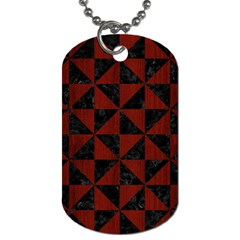 Triangle1 Black Marble & Reddish Brown Wood Dog Tag (two Sides) by trendistuff
