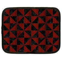 Triangle1 Black Marble & Reddish Brown Wood Netbook Case (xxl)  by trendistuff