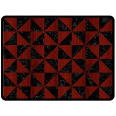 Triangle1 Black Marble & Reddish Brown Wood Double Sided Fleece Blanket (large)  by trendistuff