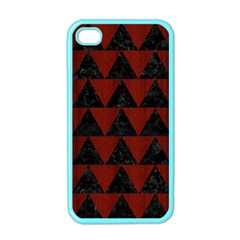 Triangle2 Black Marble & Reddish Brown Wood Apple Iphone 4 Case (color) by trendistuff