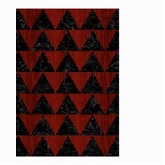 Triangle2 Black Marble & Reddish Brown Wood Small Garden Flag (two Sides) by trendistuff