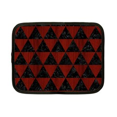 Triangle3 Black Marble & Reddish Brown Wood Netbook Case (small)  by trendistuff