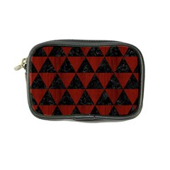 Triangle3 Black Marble & Reddish Brown Wood Coin Purse by trendistuff