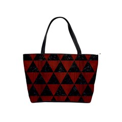 Triangle3 Black Marble & Reddish Brown Wood Shoulder Handbags by trendistuff