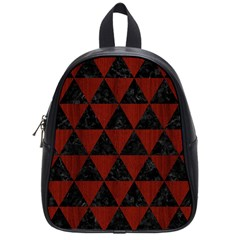 Triangle3 Black Marble & Reddish Brown Wood School Bag (small) by trendistuff