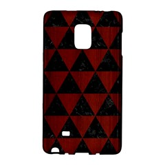 Triangle3 Black Marble & Reddish Brown Wood Galaxy Note Edge by trendistuff