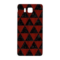 Triangle3 Black Marble & Reddish Brown Wood Samsung Galaxy Alpha Hardshell Back Case by trendistuff