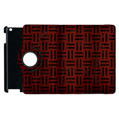 Woven1 Black Marble & Reddish Brown Wood Apple Ipad 2 Flip 360 Case by trendistuff