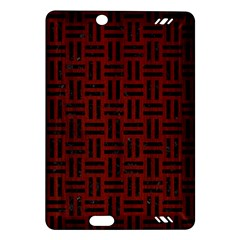 Woven1 Black Marble & Reddish Brown Wood Amazon Kindle Fire Hd (2013) Hardshell Case by trendistuff