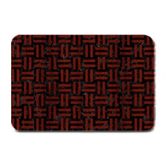 Woven1 Black Marble & Reddish Brown Wood (r) Plate Mats by trendistuff
