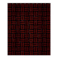 Woven1 Black Marble & Reddish Brown Wood (r) Shower Curtain 60  X 72  (medium)  by trendistuff