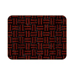Woven1 Black Marble & Reddish Brown Wood (r) Double Sided Flano Blanket (mini)
