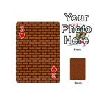 BRICK1 BLACK MARBLE & RUSTED METAL Playing Cards 54 (Mini)  Front - Heart3