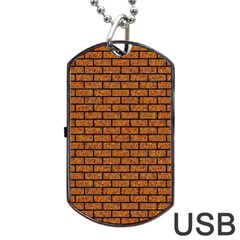 Brick1 Black Marble & Rusted Metal Dog Tag Usb Flash (one Side) by trendistuff
