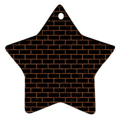 Brick1 Black Marble & Rusted Metal (r) Star Ornament (two Sides) by trendistuff