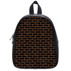 Brick1 Black Marble & Rusted Metal (r) School Bag (small) by trendistuff