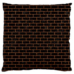 Brick1 Black Marble & Rusted Metal (r) Large Flano Cushion Case (one Side) by trendistuff