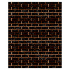 Brick1 Black Marble & Rusted Metal (r) Drawstring Bag (small) by trendistuff
