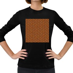Brick2 Black Marble & Rusted Metal Women s Long Sleeve Dark T Shirts by trendistuff