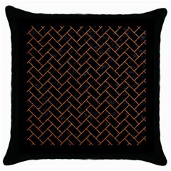 Brick2 Black Marble & Rusted Metal (r) Throw Pillow Case (black) by trendistuff