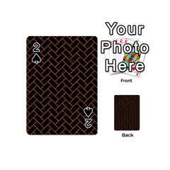 Brick2 Black Marble & Rusted Metal (r) Playing Cards 54 (mini)  by trendistuff