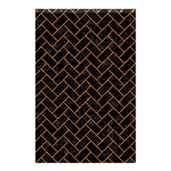 Brick2 Black Marble & Rusted Metal (r) Shower Curtain 48  X 72  (small)  by trendistuff