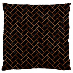 Brick2 Black Marble & Rusted Metal (r) Large Cushion Case (two Sides) by trendistuff