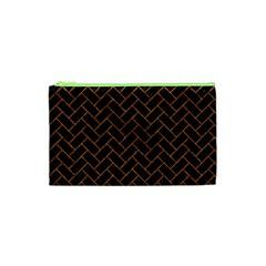 Brick2 Black Marble & Rusted Metal (r) Cosmetic Bag (xs) by trendistuff