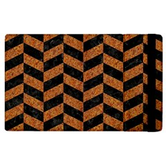 Chevron1 Black Marble & Rusted Metal Apple Ipad 3/4 Flip Case by trendistuff