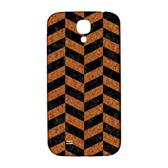 Chevron1 Black Marble & Rusted Metal Samsung Galaxy S4 I9500/i9505  Hardshell Back Case by trendistuff