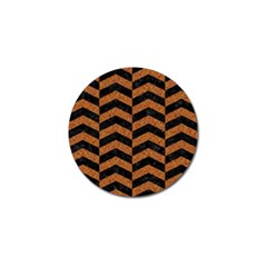 Chevron2 Black Marble & Rusted Metal Golf Ball Marker (10 Pack) by trendistuff