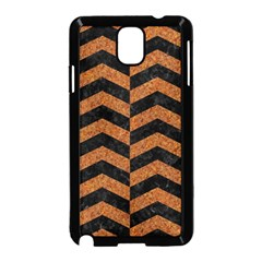 Chevron2 Black Marble & Rusted Metal Samsung Galaxy Note 3 Neo Hardshell Case (black) by trendistuff