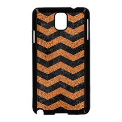 Chevron3 Black Marble & Rusted Metal Samsung Galaxy Note 3 Neo Hardshell Case (black) by trendistuff