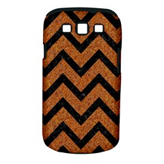 Chevron9 Black Marble & Rusted Metal Samsung Galaxy S Iii Classic Hardshell Case (pc+silicone) by trendistuff